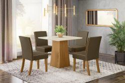 Conjunto de Mesa Dora Com 4 Cadeiras Maris