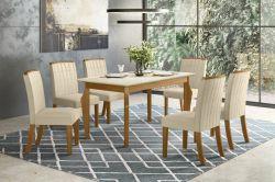 Conjunto de Mesa Ghala Com 6 Cadeiras Tauá