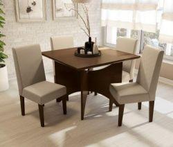 Conjunto Mesa Camomila Com 4 Cadeiras - Kappesberg