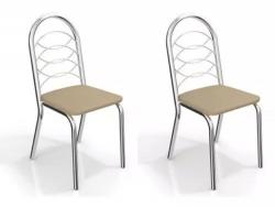 Kit 2 Cadeiras Holanda Cromada 2C009 - Kappesberg