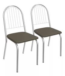 Kit 2 Cadeiras Noruega Cromada 2C077 - Kappesberg