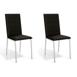 Conjunto Mesa Reno Com Tampo Retangular TAV1581 e 6 Cadeiras Amsterdã 2C091 - Kappesberg