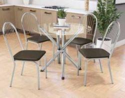 Conjunto Mesa Redonda TAV9561 Com 4 Cadeiras Noruega 2C077 - Kappesberg