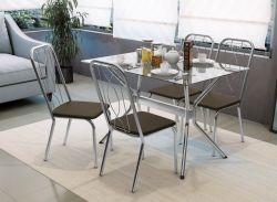 Conjunto de Mesa Loire Com 4 Cadeiras Viena - Kappesberg