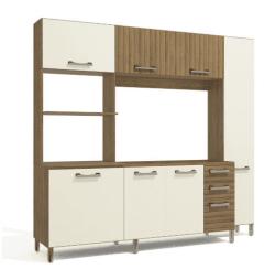 Conjunto Cozinha Compacta Freijó/Off White E780 - Kappesberg