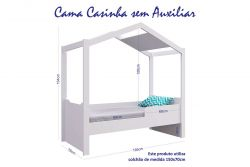 Mini Cama Casinha Montessoriano Sem Auxiliar Branco