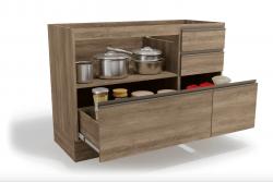 Cozinha Modulada MAXXI G7 Modelo para fogão Kappesberg