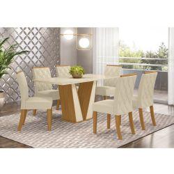 Conjunto de Mesa Garda Com 6 Cadeiras Vita