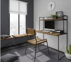 Cadeira de Ferro e Madeira Lumber - kit 2 cadeiras Art