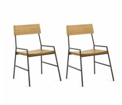 Cadeira de Ferro e Madeira Turim - kit 2 cadeiras Art