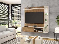 PAINEL TRAMMA prateleira com LED para TV 55 polegadas Buriti OFF White