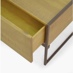 Rack  de Madeira e Ferro com Gaveta Lumber Art