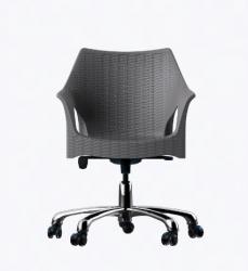 Cadeira Relic Office Rodizio Cromado Konkret I