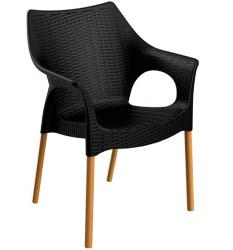Cadeira Relic Wood Preto I
