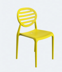 Cadeira Stripe sem Braço Limão Siciliano I