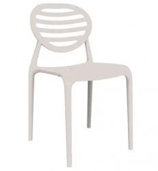 Cadeira Stripe sem Braço Branco I