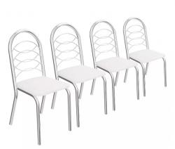 Kit 4 Cadeiras Holanda Cromada 4C009 - Kappesberg