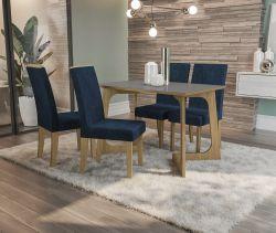 Conjunto Mesa Marcela CSJ801FR-D008 Com 4 Cadeiras - Kappesberg