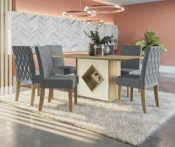 Conjunto Mesa Cambará CSJ818ITFR-A018 Com 6 Cadeiras 100% BP - Kappesberg