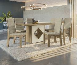 Conjunto Mesa Cambará CSJ817IT-A019 Com 6 Cadeiras  - Kappesberg  100%BP