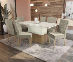 Conjunto Mesa Losna CSJ724FR-A016 Com 6 Cadeiras  - Kappesberg