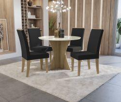 Conjunto Mesa Figueira CSJ785FR-A025 Com 4 Cadeiras - Kappesberg
