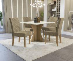 Conjunto Mesa Figueira CSJ670FR-D005 Com 4 Cadeiras - Kappesberg