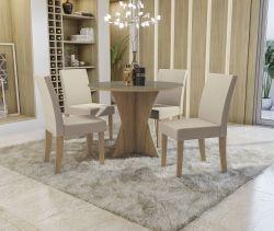 Conjunto Mesa Figueira CSJ811FR-A020 Com 4 Cadeiras - Kappesberg