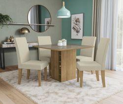 Conjunto Mesa Camélia CSJ619FR-A019 Com 4 Cadeiras - Kappesberg