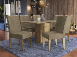 Conjunto Mesa Acerola CSJ543FR-D005 Com 6 Cadeiras  - Kappesberg