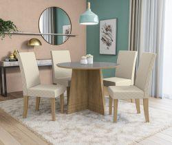 Conjunto Mesa Lótus CSJ825FR-A021 Com 4 Cadeiras - Kappesberg