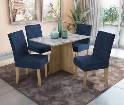 Conjunto Mesa Lótus CSJ554FR-D008 Com 4 Cadeiras - Kappesberg
