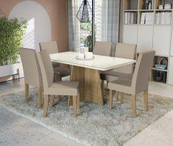 Conjunto Mesa Lótus CSJ676FR-A020  Com 6 Cadeiras - Kappesberg
