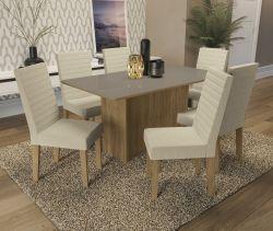 Conjunto Mesa Cidra CSJ533FR-A019  Com 6 Cadeiras - Kappesberg
