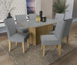 Conjunto Mesa Cidra CSJ461FR-A018  Com 6 Cadeiras - Kappesberg