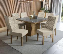 Conjunto Mesa Tília CSJ449FR-A019  Com 8 Cadeiras - Kappesberg