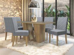 Conjunto Mesa Romã CSJ562FR-A018  Com 6 Cadeiras - Kappesberg