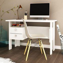 Mesa Escrivaninha 2 Gavetas Rústico MSM 423 Movelbento