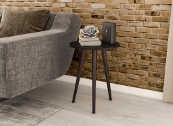 Mesa  de canto retrô  RT3099 PRETO - Móvel Bento
