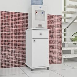 Balcão Simples Cozinha 1 Porta 1 Gaveta Branco ASM153 Movelbento