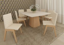 Base de mesa  Dalia quadrada  Móveis Rudnick