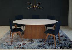 Base de mesa  Dalia  retangular  Móveis Rudnick