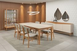 Mesa de jantar Libri  2,20cm Móveis Rudnick